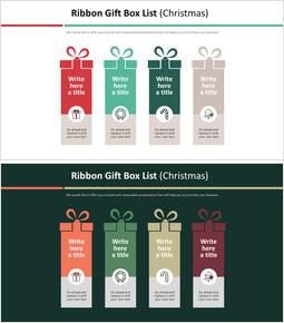 Ribbon Gift Box List Diagram (Christmas)_2 slides