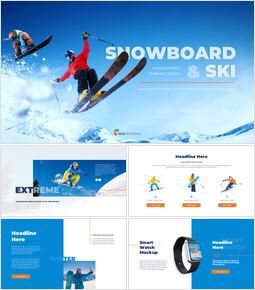 스노우 보드 & 스키 PPT 테마 슬라이드_00