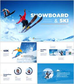 스노우 보드 & 스키 프레젠테이션 템플릿_00