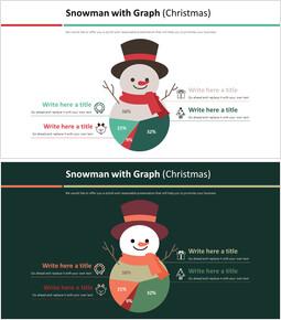그래프 다이어그램 (크리스마스)와 눈사람_00