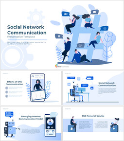Social Network Communication Best Google Slides_00
