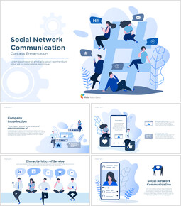 Social Network Communication Modern PPT Templates_00