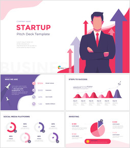 Startup Visually Focused Template PowerPoint Design ideas_16 slides