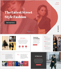 The Latest Street Style Fashion Google Slides Template Diagrams Design_00