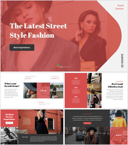 The Latest Street Style Fashion Simple PowerPoint Template Design_00