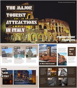 이탈리아의 주요 관광 명소 테마 PPT 템플릿_00