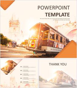 도시의 트램 - 무료 Google 슬라이드 템플릿 디자인_00