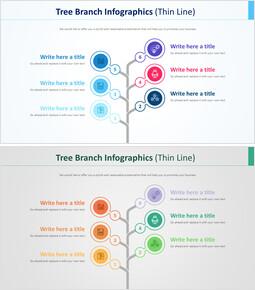나뭇 가지 인포 그래픽 다이어그램 (가는 선)_00