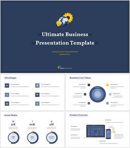 Ultimate Business semplice modello Semplici diapositive di Google_00