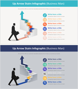 Up Arrow Stairs Infographic Diagram (Business Man)_00