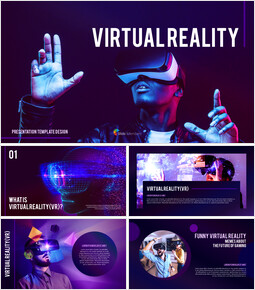 Virtual Reality (VR) Simple PowerPoint Template Design_00