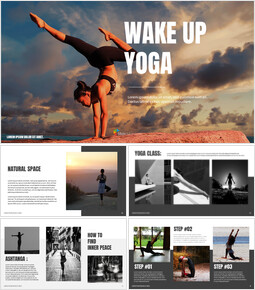 Wake Up Yoga Google Slides for mac_00