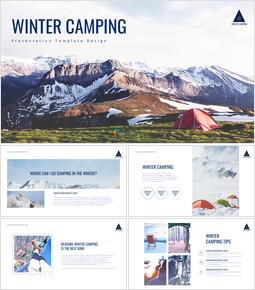겨울 캠핑 테마 Google 슬라이드_00