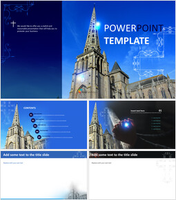 Catholic Church on a Bright Day - Free Powerpoint Template_00