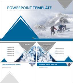 에베레스트 산 등반 - 무료 전문가 파워포인트 템플릿_00