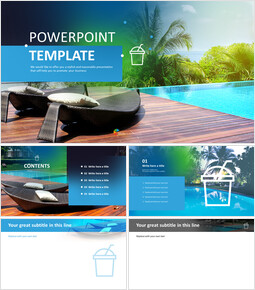 Free Images for PowerPoint - Outdoor Resort Swimming Pool_6 slides