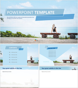 Free Powerpoint Templates Design - Travel Alone_00