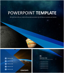 Free PPT Template Design - Mystery of the Universe_00