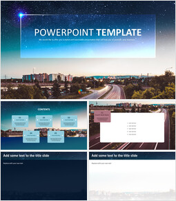 Free Template Design - Starry Night Road_00