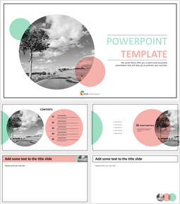 Highway in a Nature - Free Powerpoint Templates Design_00