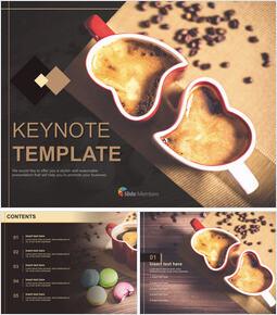 사랑 핫 초콜릿 - 무료 Keynote 템플릿_00