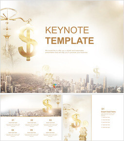 Keynote Templates Free Download - A City and Financial_00