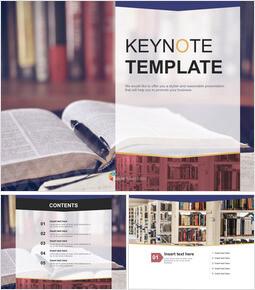 Library Desk - Free Keynote Template Download_6 slides