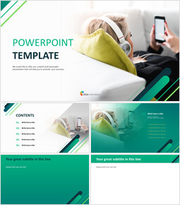 Weekend with Music - PPT Templates Free Download_6 slides